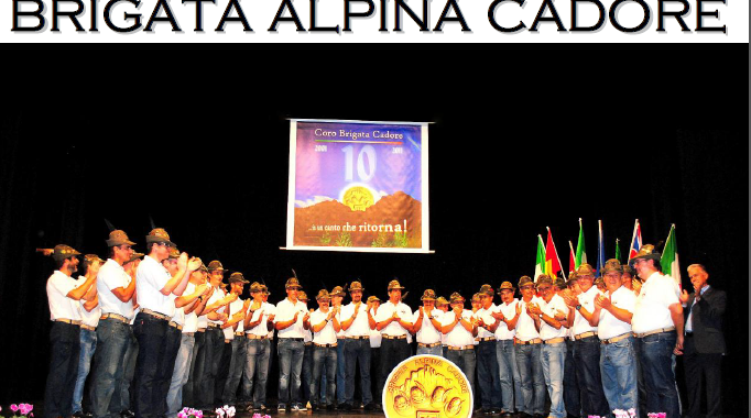 Concerto del coro Brigata Alpina Cadore - 2 dicembre 2017, ore 20:30