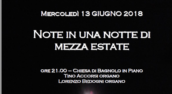 Note in una notte di mezza estate